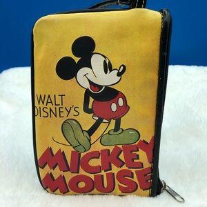 Walt Disney Mickey Mouse Yellow Nylon Small Clutch